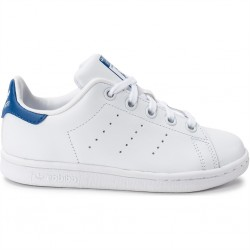 adidas stan smith - blanc-bleu