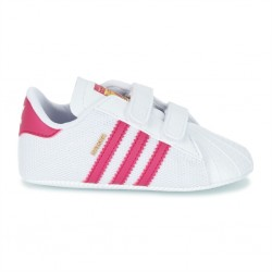 adidas superstar crib - blanc-rose