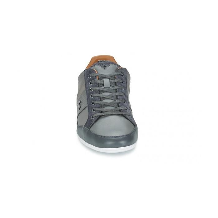 lacoste sneakers basses chaymon en cuir punché