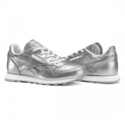 reebok classic leather metallic - argent