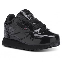 reebok classic leather metallic - noir