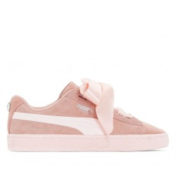 puma jr suede heart jewel - rose
