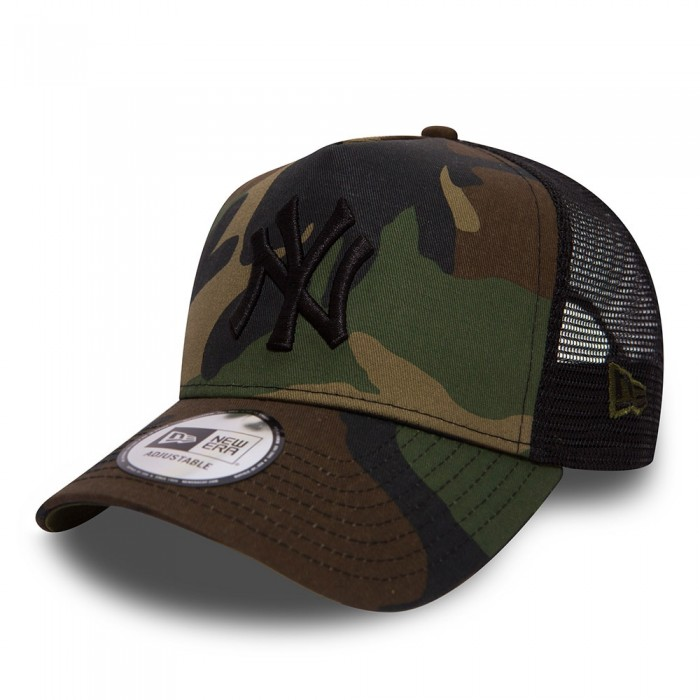 new era new york yankees trucker mi-droite camo