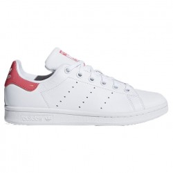 adidas stan smith j - blanc-rose