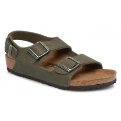 birkenstock milano junior - soil-green