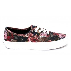 vans chaussure authentic - blue-flower