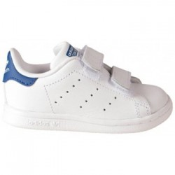 adidas stan smith cfi - blanc-bleu