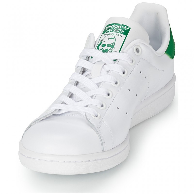 ADIDAS CHAUSSURE STAN SMITH blancoo-verde M20324 CUIR TISSU 39 13 13 13 - blancoo-verde 38a7c6
