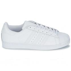 adidas chaussure superstar - blanc, cuir, tissu
