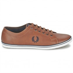 fred perry kingston - tan, cuir, cuir