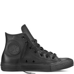 converse chuck taylor all star leather - mononoir, cuir, tissu