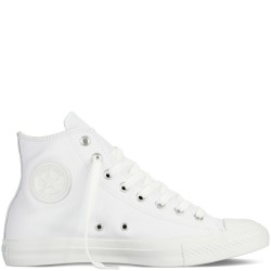 converse chuck taylor all star leather - monoblanc, cuir, tissu