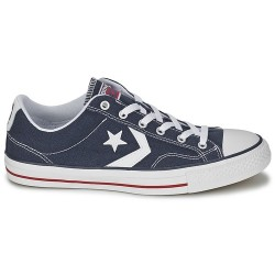 converse star player adulte core canvas ox, basket - marine, toile, tissu