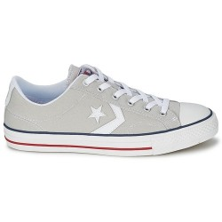 converse star player adulte core canvas ox, basket - gris-clair, toile, tissu