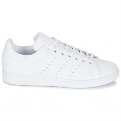adidas chaussure stan smith - blanc-blanc, cuir, tissu
