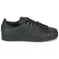 adidas chaussure superstar - noir noir, cuir, tissu