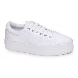 no name plateforme sneakers - canvas white, toile, tissu