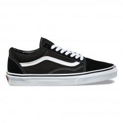 vans chaussures old skool - blk-white, toile, tissu