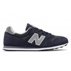 new balance suede 373 - marine, cuir/textile, textile