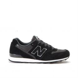 new balance 996 - noir, cuir/textile, textile