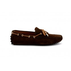 offshoes 150t - marron, cuir velours, cuir