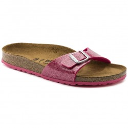 birkenstock mules madrid femme birko-flor® - magic-rose, synthétique, liege