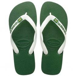 havaianas brasil logo - vert-blanc, caoutchouc, caoutchouc