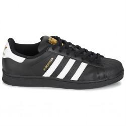 adidas chaussure superstar - noir blanc, cuir, tissu