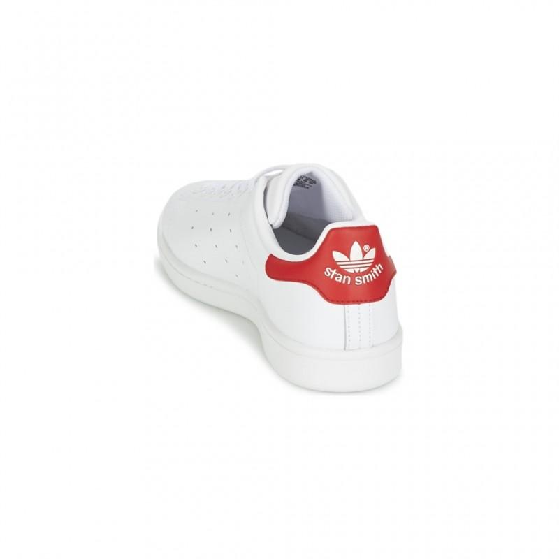 Smith 41 rouge Adidas 13 M20326 Tissu Chaussure Stan Blanc Cuir TqqwE48