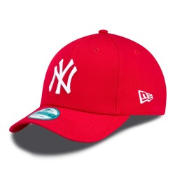 new era 940 leag basic - scarlet-white, textile, textile