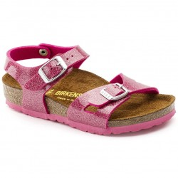 birkenstock rio birko-flor® - magic-rose, synthétique, liege