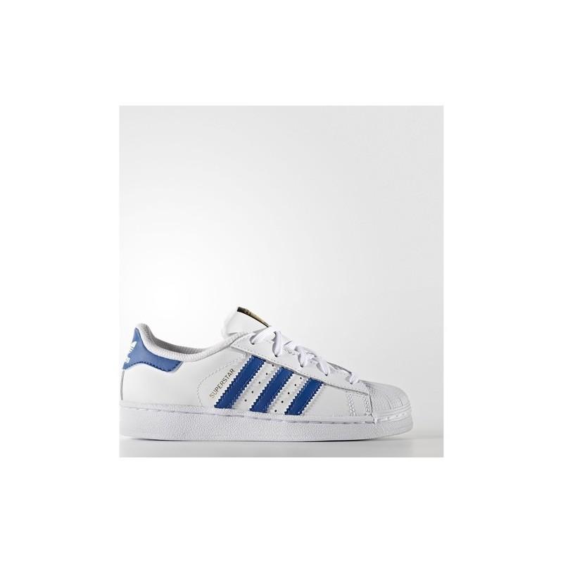 Sur Blanc Enfants Tissu Détails Ba8383 Cuir Adidas Chaussures 29 Superstar Bleu dCrxeBo