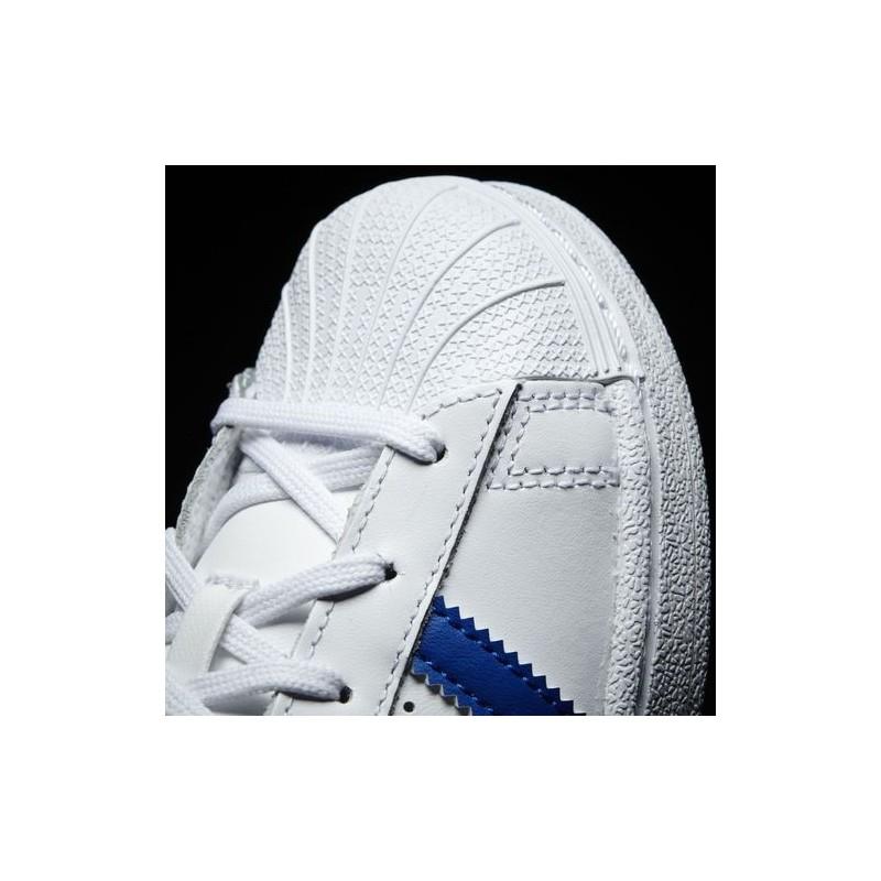 29 Sur Cuir Tissu Détails Superstar Ba8383 Enfants Bleu Chaussures Blanc Adidas CrdsQth