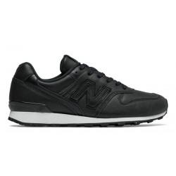 new balance 996 - black, cuir/textile, textile