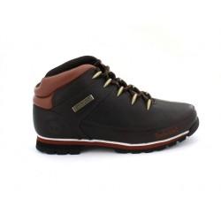 timberland chaussures euro sprint hiker - marron, cuir, cuir/textile