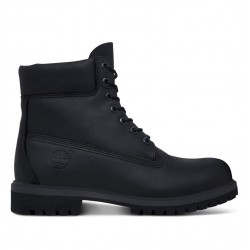 timberland icon 6-inch boot homme noires - black, cuir, cuir/textile