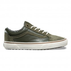 vans chaussures old skool - khaki, cuir/textile, textile