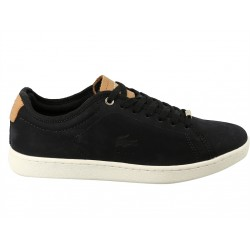 lacoste carnaby - black, cuir/textile, textile