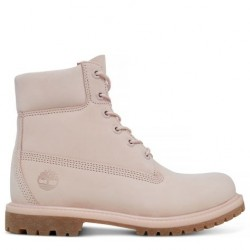 timberland 6-inch icon boot femme rose pastel - rose, cuir, cuir/textile