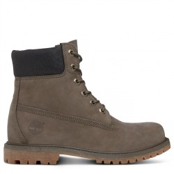 timberland 6-inch icon boot femme - gris, cuir, cuir/textile