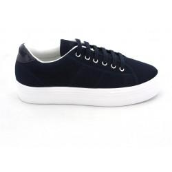 no name plateforme sneakers - navy, toile, tissu