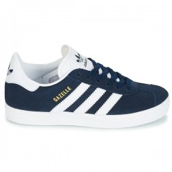 adidas chaussure gazelle - navy, cuir/suede, textile