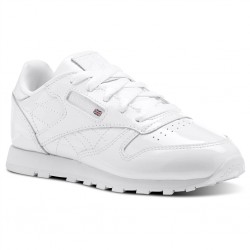 reebok classic leather metallic - blanc, cuir, textile