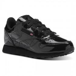 reebok classic leather metallic - noir, cuir, textile