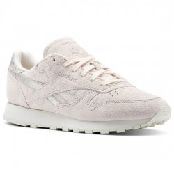reebok x face stockholm classic leather - rose-poudre, cuir, tissu