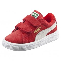 puma bsuede - rouge, cuir velours, textile