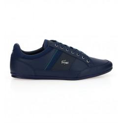 lacoste chaymon 118 - bleu, cuir, cuir/textile