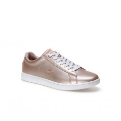 lacoste carnaby - rose, cuir, cuir/textile