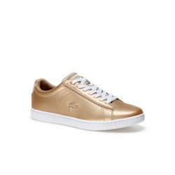 lacoste carnaby - or, cuir, cuir/textile
