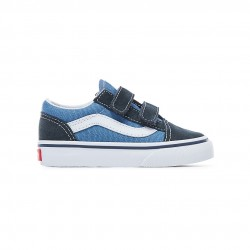vans old school enfant - navy, textile, textile